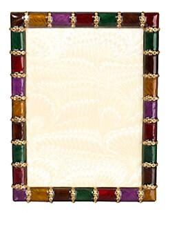 Jay Strongwater - Striped Swarovski-Crystal Embellished Photo Frame