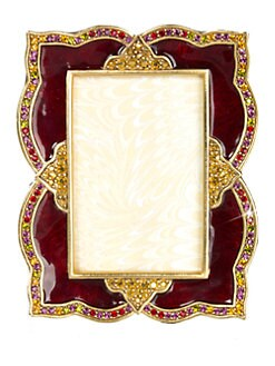 Jay Strongwater - Scalloped Pavè Swarovski Crystal-Embellished Photo Frame