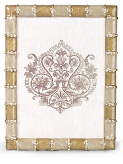 Jay Strongwater - Striped 5 X 7 Picture Frame