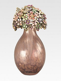 Jay Strongwater - Floral Perfume Bottle