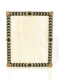 Jay Strongwater - Alden Crystal Chevron 8 X 10 Picture Frame