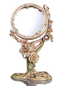 Jay Strongwater - Allyson Floral Standing Mirror