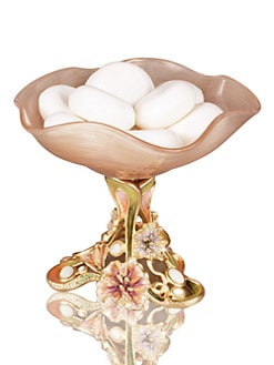 Jay Strongwater - Josee Floral Pedestal Dish