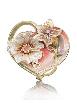 Jay Strongwater - Enameled Heart Trinket Tray