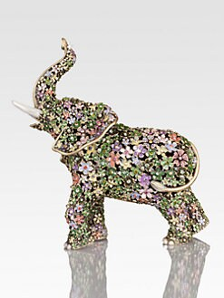 Jay Strongwater - Sadie Boxwood Elephant Figurine