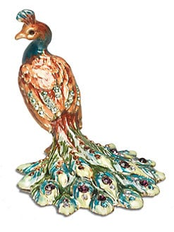 Jay Strongwater - Kerri Peacock Mini Figurine