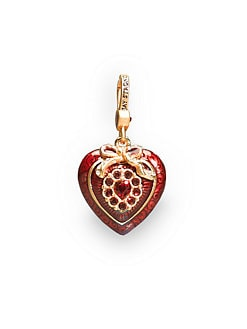 Jay Strongwater - Crystal Heart Charm