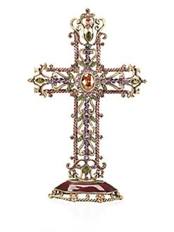 Jay Strongwater - Jeweled Filigree Standing Cross