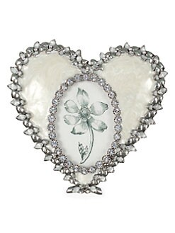 Jay Strongwater - Jeweled Enamel Oval Heart Frame