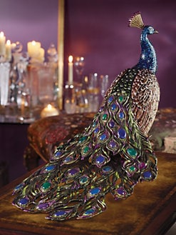 Jay Strongwater - Grand Peacock Figurine
