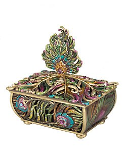 Jay Strongwater - Peacock Feather Box