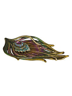 Jay Strongwater - Peacock Feather Trinket Tray