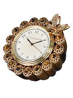 Jay Strongwater - Jeweled Enamel Clock