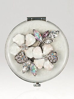 Jay Strongwater - Jeweled Flower Compact