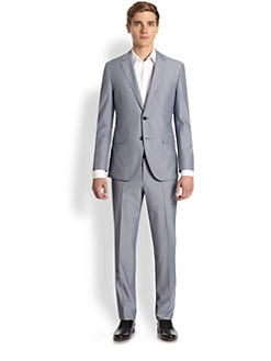 BOSS Black - Keys Shaft Pinstriped Suit