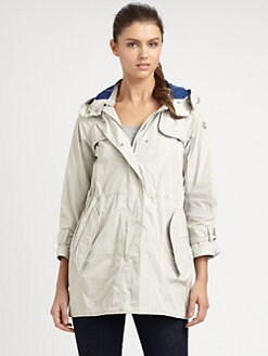 Moncler - Cinched-Waist Raincoat