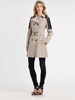 Mackage - Lilith Leather-Trim Trench Coat