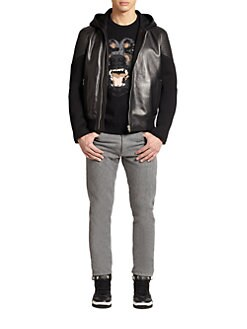 Givenchy - Neoprene Leather Hoodie