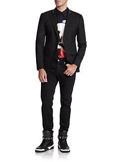 Givenchy - Virgin Wool Zip Blazer
