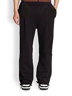 Givenchy - Contrasting Panel Pleated Sweatpants
