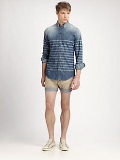 DSQUARED - Laser Striped Denim Shirt