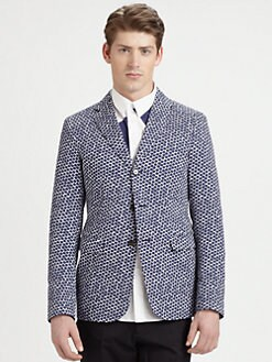 Jil Sander - Three-Button Hexagon Print Blazer