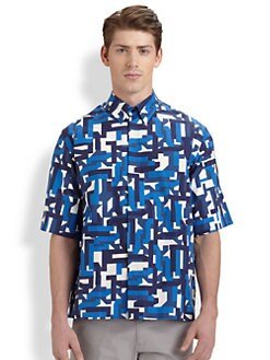 Jil Sander - Oversized Graffiti-Print Sportshirt