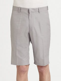 Jil Sander - Slim Compact Cotton Knee-Length Shorts