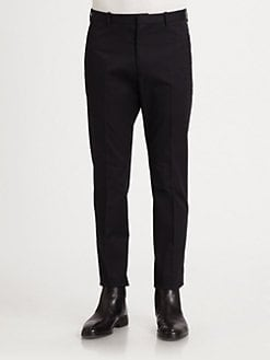 Jil Sander - Slim Cropped Stretch Cotton Trousers