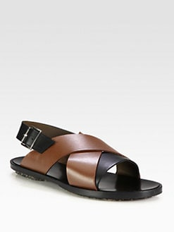 Marni - Leather Crisscross Sandal