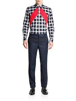 Givenchy - Slim-Fit Plaid & Stripe Sportshirt