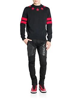 Givenchy - Cotton Star & Stripe Sweatshirt