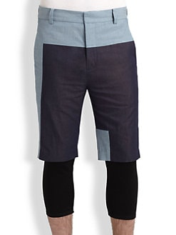 3.1 Phillip Lim - Layered-Look Coloblocked Shorts