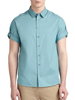 3.1 Phillip Lim - Roll-Sleeve Button-Down Shirt