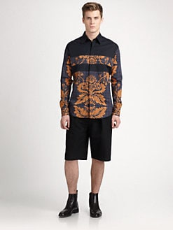 3.1 Phillip Lim - Stretch Cotton Leaf-Print Button-Down Shirt