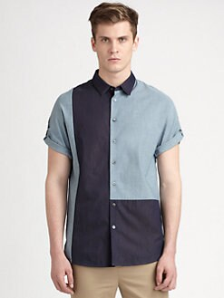 3.1 Phillip Lim - Colorblocked Button-Down Shirt