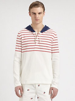 Band of Outsiders - Brenton Striped Hoodie