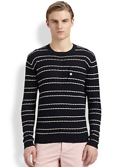 Band of Outsiders - Striped Crewneck Sweater