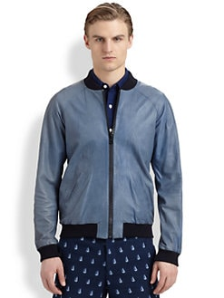 Band of Outsiders - Leather Bomber Jacket