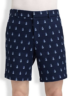 Band of Outsiders - Sailboat-Print Shorts