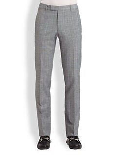 Band of Outsiders - Check Wool & Linen Pants