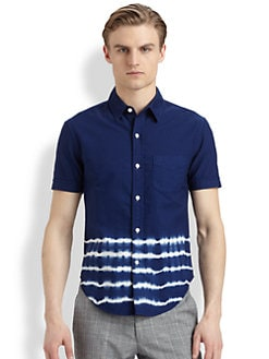 Band of Outsiders - Tie Dye-Striped Cotton Shirt