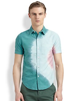 Band of Outsiders - Tie Dye-Print Cotton Shirt