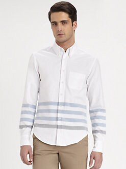 Band of Outsiders - Panel Stripe Sportshirt