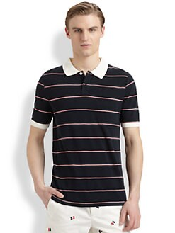 Band of Outsiders - Striped Cotton Polo Shirt