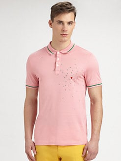 Moschino - Striped Cotton Polo