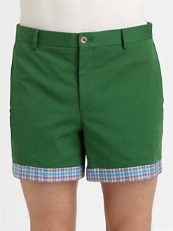 Moschino - Plaid-Trimmed Shorts