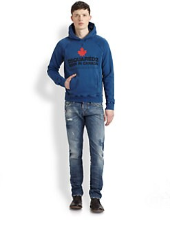 DSQUARED - Graphic Cotton Hoodie