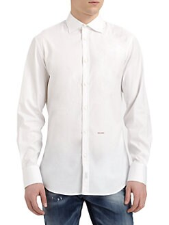 DSQUARED - Stretch-Cotton Sportshirt
