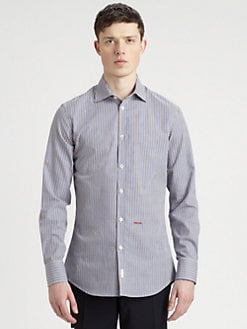 DSQUARED - Multicolored Check Cotton Sportshirt